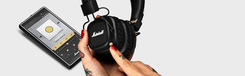 Sluchátka Major II Bluetooth se zabudovaným ovládacím tlačítkem