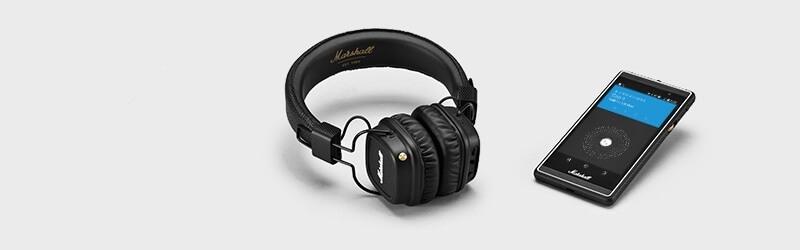 Bezdrátová sluchátka Major II Bluetooth pro ovládání telefonu