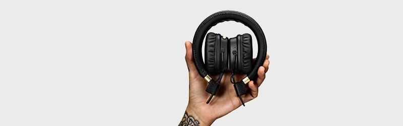 Pohodlně složitelné bezdrátové sluchátka Major II Bluetooth