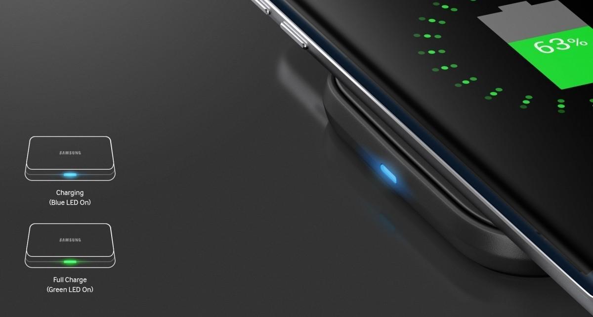 Bezdrátová nabíjecí podložka Samsung EP-PA510BWE s LED indikací nabití