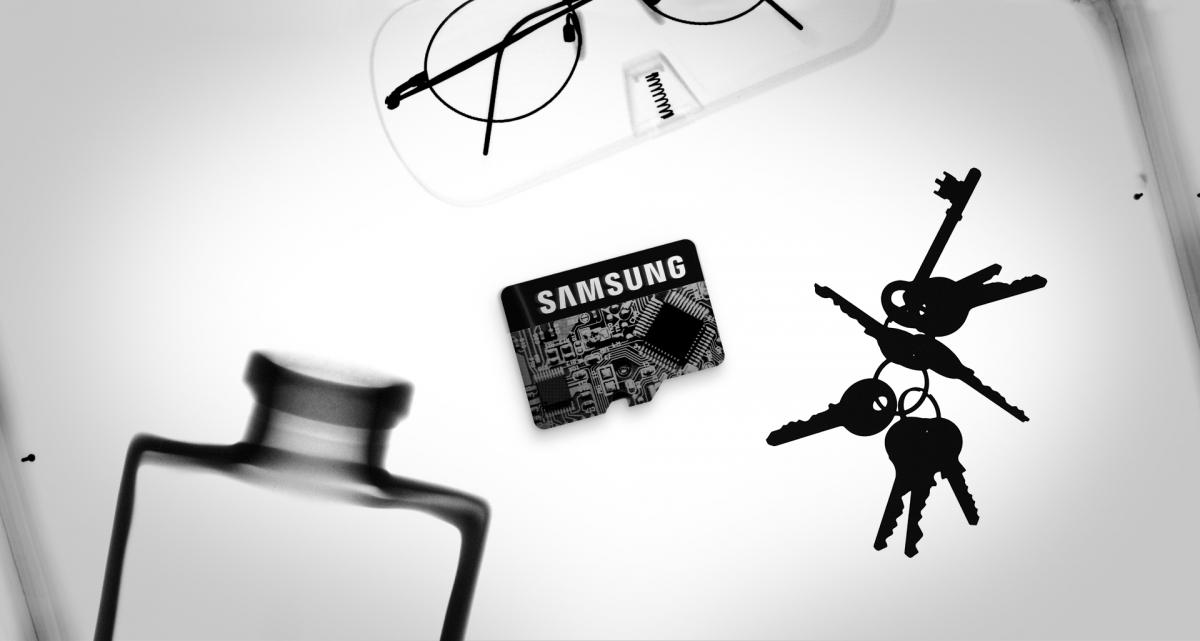MicroSDXC Samsung EVO Plus rentgenu odolná