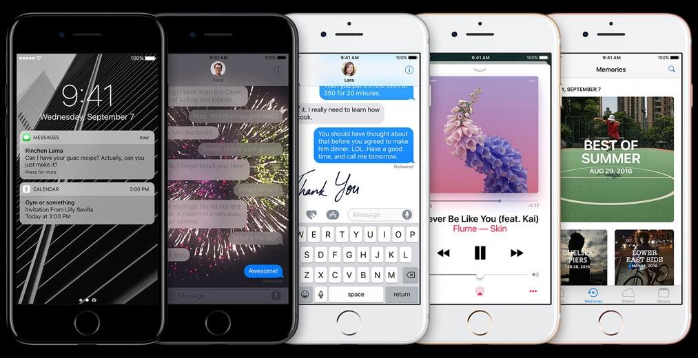 Mobilní telefon Apple iPhone 7 s iOS 10