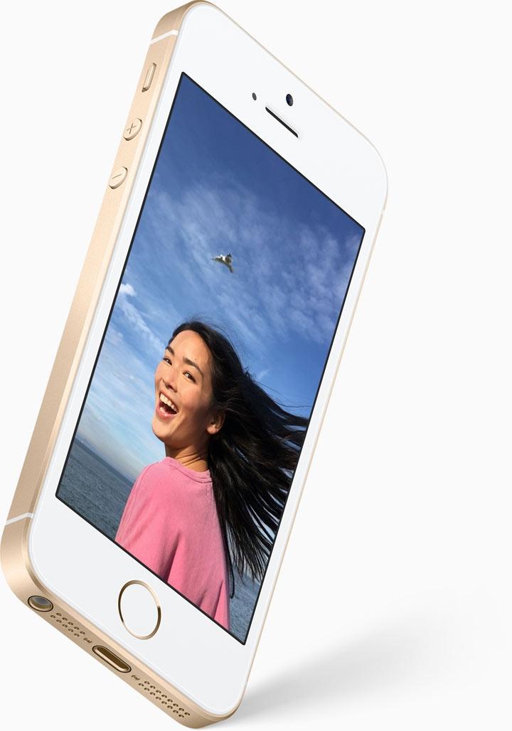 Mobilní telefon Apple iPhone SE s předním fotoaparátem pro krásná selfie