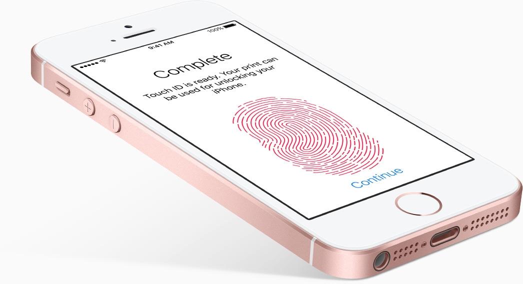 Mobilní telefon Apple iPhone SE se čtečkou otisku prstů Touch ID