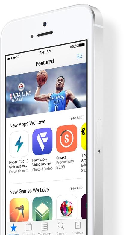 Mobilní telefon Apple iPhone SE s aplikacemi na všechno