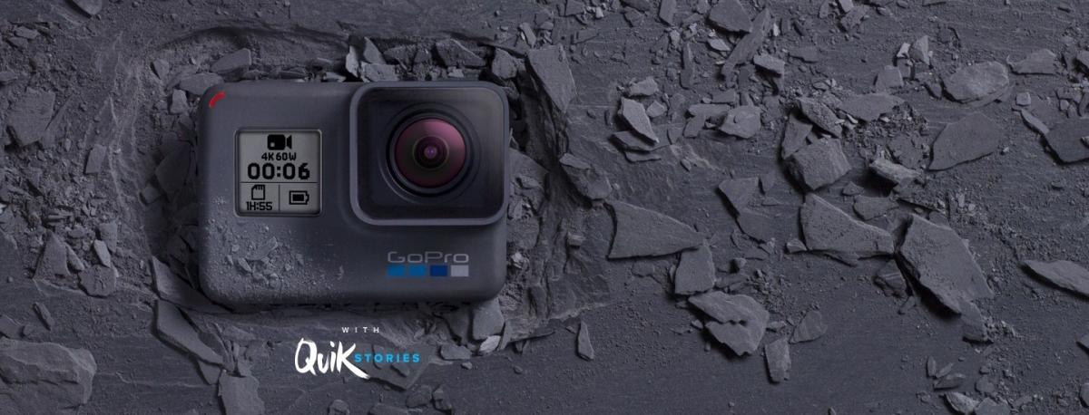 Outdoorová kamera GoPro HERO6 Black Edition s automatickým vytvářením QuikStories přímo v telefonu