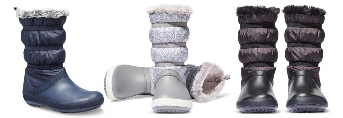 Dámské sněhule Crocs Crocband Winter Boot Women ve stylovém vzhledu s  hřejivým kožíškem bfc0a555b3
