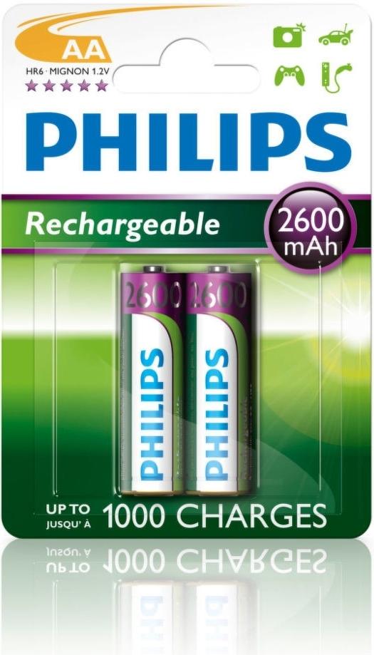 Nabíjecí baterie Philips MultiLife AA 2600 mAh, 2ks
