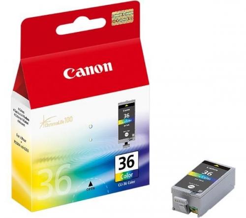 Tříbarevná inkoustová kazeta Canon CLI-36 C - Originální 1511B001