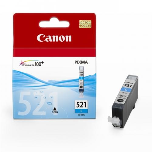 Azurová inkoustová kazeta Canon CLI-521C (MP 550, IP 4600) - Originální 2934B001