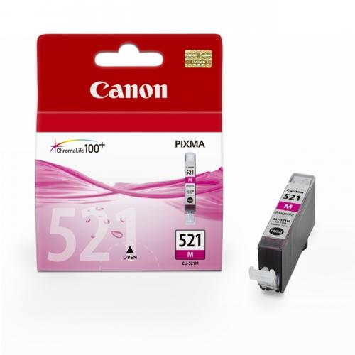 Purpurová inkoustová kazeta Canon CLI-521M (MP 550, IP 3600) - Originální 2935B001