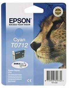 Azurová inkoustová kazeta Epson pro D78,D92 (T0712) - Originální C13T07124010