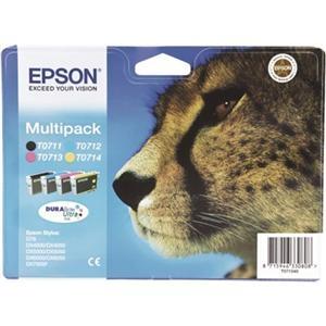 Barevné inkoustové kazety Epson CMYK Multipack (T0715) - Originální C13T07154010