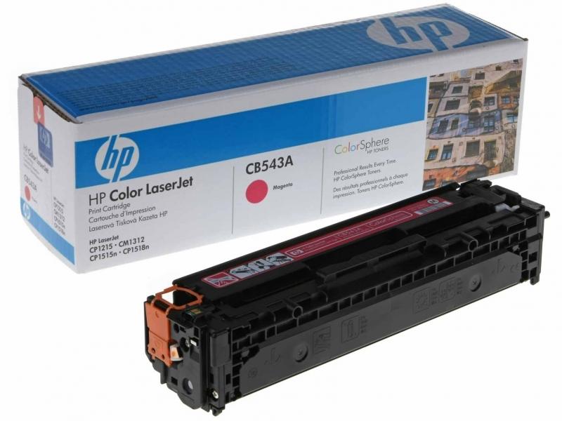 Purpurová tonerová kazeta HP CB543A pro Color LaserJet CP1215 - Originální CB543A