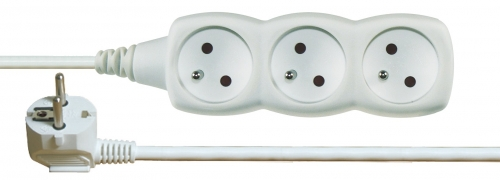 Prodlužovací kabel 3 zásuvky 2m, bílý