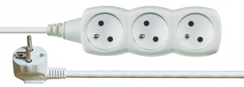 Prodlužovací kabel 3 zásuvky 1,5m, bílý