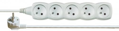 Prodlužovací kabel 5 zásuvek 1,5m, bílý