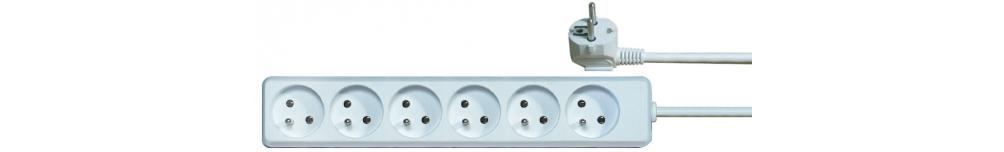 Prodlužovací kabel 6 zásuvek 2m, bílý