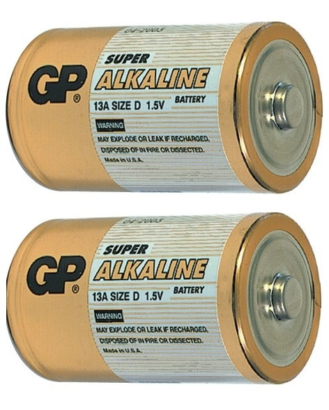 Alkalické baterie GP Super C 1,5 V, 2 kusy