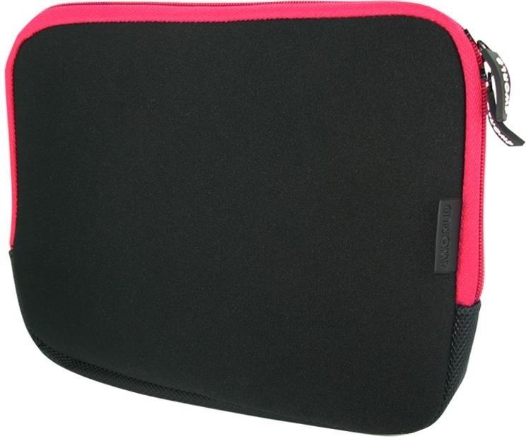 Neoprenové pouzdro 4World k notebooku do 10.4'' - černo-růžové 05801
