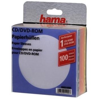 Hama ochranný papírový obal pro CD/DVD,100ks/bal, barevný mix
