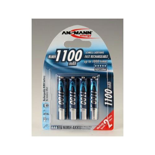 Nabíjecí baterie Ansmann AAA 1100 mAh, 4ks 7521