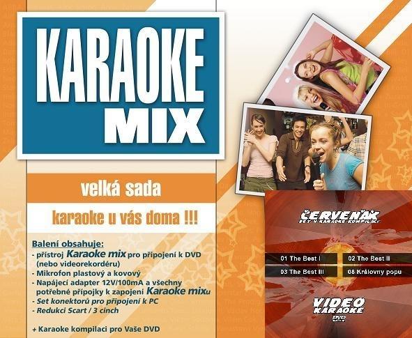 Karaoke maxi set - VČETNĚ KOMPILACE 4 DVD ZDARMA