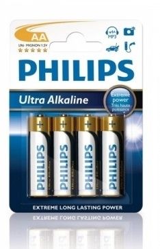 Alkalické baterie Philips ExtremeLife AA 1.5V, 4ks