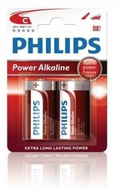 Alkalické baterie Philips PowerLife C 1.5V, 2ks