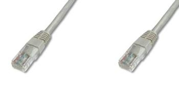 PremiumCord Patch kabel UTP RJ45-RJ45 level 5e 0.5m šedá