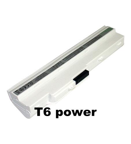 Baterie T6 power BTY-S12, BTY-S11, 957-N0111P-004, 957-N0111P-005, 3715A-MS6837D1, 6317A-RTL8187SE, TX2-RTL8187SE, bílá