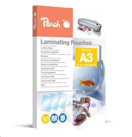 Laminovací fólie Peach, A3, 125 mic, 25 ks, lesklé 00510437