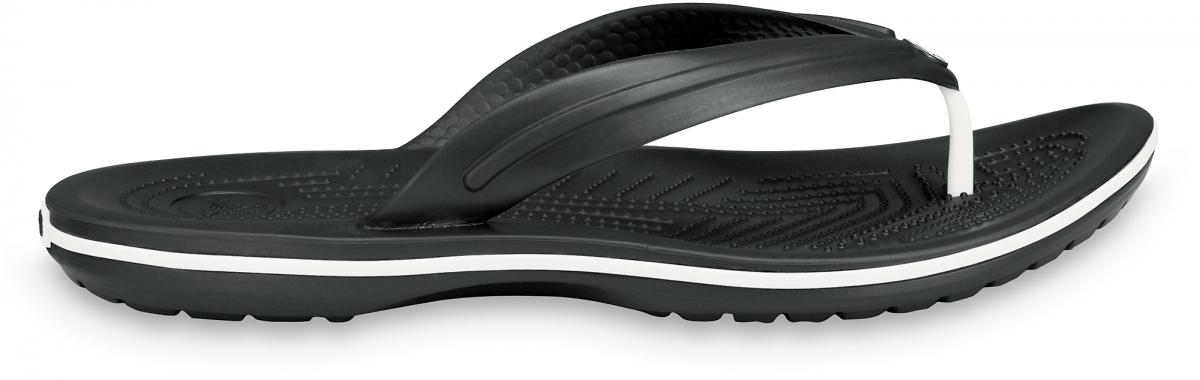 Crocs Crocband Flip - Black, M8/W10 (41-42)