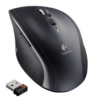 myš Logitech Wireless Mouse M705 nano, stříbrná 910-001950