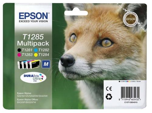 Barevné inkoustové kazety Epson CMYK Multipack pro Stylus S22, SX125 (T1285) - Originální C13T12854010