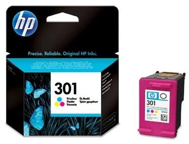 Tříbarevná inkoustová kazeta HP 301 (HP301, HP-301, CH562EE) - Originální CH562EE