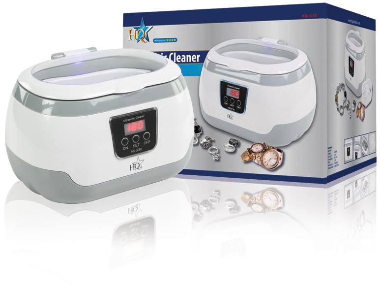 Ultrazvuková čistička HQ-JC50 Profi, 610 ml + roztok 0,5 l ZDARMA