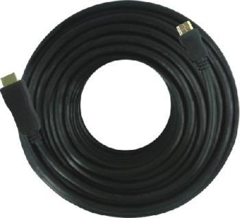PremiumCord HDMI High Speed with Ether. kabel se zesilovačem, 15m, 3x stínění, M/M, zlacené konektory, černý