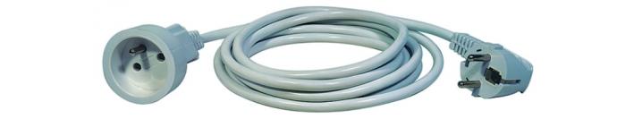 Prodlužovací kabel spojka 10m, bílý