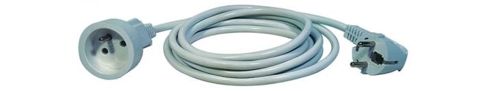 Prodlužovací kabel spojka 5m, bílý