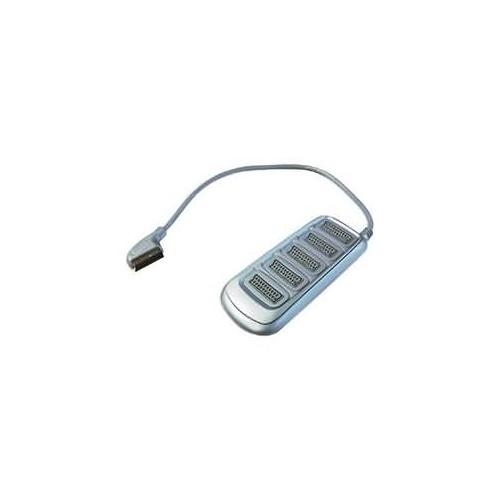 KABEL SCART - 5x SCART - stříbrný oblé provedení