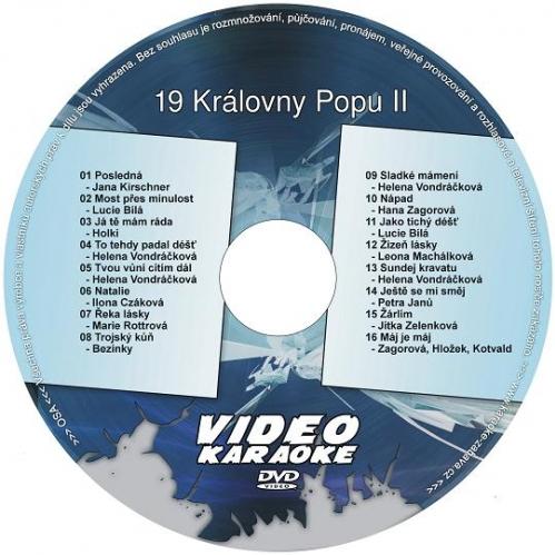 Karaoke kompilace DVD: 19 Královny popu II