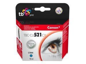 Azurová inkoustová kazeta TB kompatibilní s Canon CLI-521C - Alternativní TBC-CLI521CY