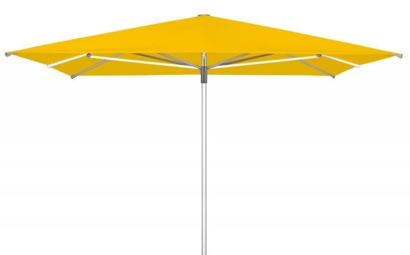 Zahradní slunečník Doppler TELESTAR 400 x 400 cm - Žlutá