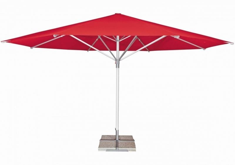 Zahradní slunečník Doppler TELESTAR 500 cm - Červená