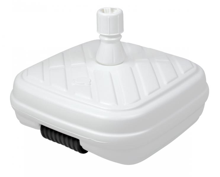 Plastový stojan pro zahradní slunečníky, 50 litrů Bílá
