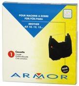 Černá barvicí páska Armor kompatibilní s Brother AX 10 (AX-10, AX10, Gr.153C) - Alternativní F80765