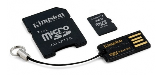 Kingston 16GB Mobility Kit G2 (microSD + adaptér + čtečka) MBLY4G2/16GB