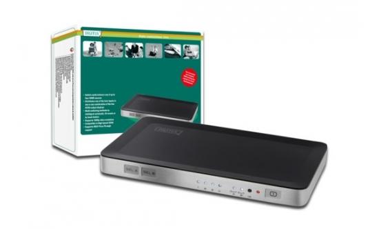 Digitus HDMI elektronický přepínač 4 vstupy => 2 výstupy DS-48300