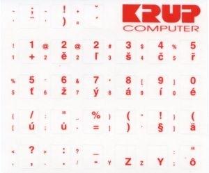polepka na klávesnici - červená, česká pkczr